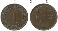Продать Монеты Веймарская республика 1 пфенниг 1929 Медь