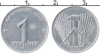 Изображение Монеты ГДР 1 пфенниг 1952 Алюминий XF А