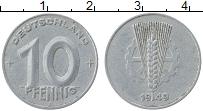 Изображение Монеты ГДР 10 пфеннигов 1949 Алюминий XF А