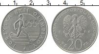 Изображение Монеты Польша 20 злотых 1980 Медно-никель XF Олимпийские игры в М