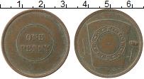 Изображение Монеты США 1 пенни 1910 Медь XF Токен, Анкон, зона П