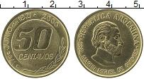 Продать Монеты Аргентина 50 сентаво 2000 Латунь
