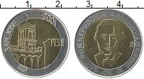 Продать Монеты Аргентина 1 песо 2001 Биметалл