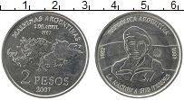 Продать Монеты Аргентина 2 песо 2007 Медно-никель