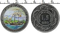 Продать Монеты Испания 1,5 евро 2019 Медь