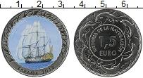Продать Монеты Испания 1,5 евро 2018 Медь