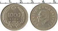 Изображение Монеты Турция 1000 лир 1993 Медно-никель XF Кемаль Ататюрк
