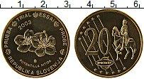 Изображение Монеты Словения 20 евроцентов 2003 Латунь UNC Проба