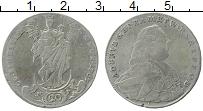 Продать Монеты Вюрцбург 20 крейцеров 1763 Серебро