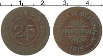 Изображение Монеты Гватемала 25 сентаво 1915 Медь XF