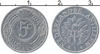 Изображение Монеты Антильские острова 5 центов 2004 Алюминий UNC-