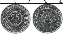 Изображение Монеты Антильские острова 25 центов 1990 Медно-никель UNC-