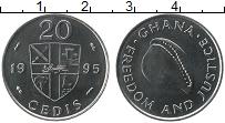 Изображение Монеты Гана 20 седи 1995 Медно-никель UNC-