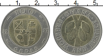 Изображение Монеты Гана 100 седи 1997 Биметалл UNC-