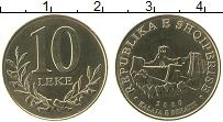 Изображение Монеты Албания 10 лек 2000 Латунь UNC-