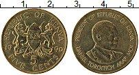 Изображение Монеты Кения 5 центов 1990 Латунь XF+ Даниэль Тороитич Ара