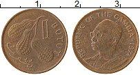 Изображение Монеты Гамбия 1 бутут 1974 Бронза XF