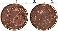 Изображение Монеты Сан-Марино 1 евроцент 2006 Бронза UNC-