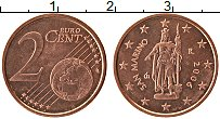 Изображение Монеты Сан-Марино 2 евроцента 2006 Бронза UNC- Статуя Свободы-скуль
