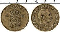 Изображение Монеты Дания 2 кроны 1952 Латунь XF Фредерик IX