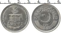 Изображение Монеты Пакистан 20 рупий 2011 Медно-никель UNC- 150 лет Колледжу Лоу