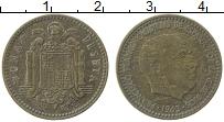 Изображение Монеты Испания 1 песета 1963 Латунь XF