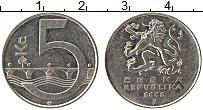 Изображение Монеты Чехия 5 крон 2002 Медно-никель XF+