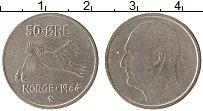 Изображение Монеты Норвегия 50 эре 1964 Медно-никель XF