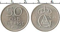 Изображение Монеты Швеция 50 эре 1967 Медно-никель XF Густав VI Адольф