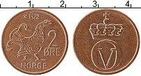 Изображение Монеты Норвегия 2 эре 1972 Бронза UNC-