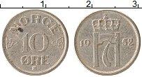 Изображение Монеты Норвегия 10 эре 1952 Медно-никель XF Хокон VII