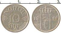 Изображение Монеты Норвегия 10 эре 1954 Медно-никель XF Хокон VII