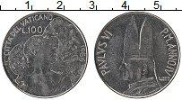 Изображение Монеты Ватикан 100 лир 1966 Сталь XF Павел VI.