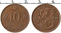 Изображение Монеты Финляндия 10 пенни 1938 Бронза XF