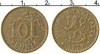 Изображение Монеты Финляндия 10 пенни 1979 Латунь XF