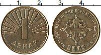 Изображение Монеты Македония 1 денар 2000 Латунь UNC-