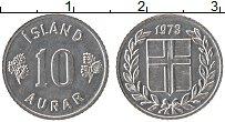 Изображение Монеты Исландия 10 аурар 1973 Алюминий UNC-