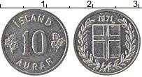 Изображение Монеты Исландия 10 аурар 1971 Алюминий UNC-