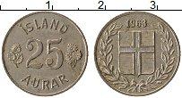 Изображение Монеты Исландия 25 аурар 1963 Медно-никель XF