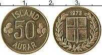 Изображение Монеты Исландия 50 аурар 1973 Латунь UNC-