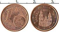 Изображение Монеты Испания 1 евроцент 2011 Бронза XF Кафедральный собор С