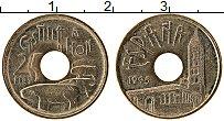 Изображение Монеты Испания 25 песет 1995 Латунь UNC-