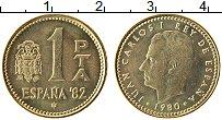 Изображение Монеты Испания 1 песета 1980 Латунь UNC- Чемпионат мира по фу