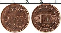 Продать Монеты Мальта 5 евроцентов 2008 Медь