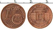 Продать Монеты Мальта 1 евроцент 2008 сталь с медным покрытием