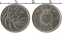 Изображение Монеты Мальта 2 цента 1998 Медно-никель XF