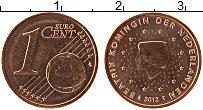 Изображение Монеты Нидерланды 1 евроцент 2012 Бронза UNC-