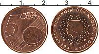 Изображение Монеты Нидерланды 5 евроцентов 2012 Бронза UNC- Беатрис