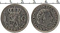 Изображение Монеты Нидерланды 1 гульден 1980 Медно-никель XF Юлиана