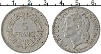 Изображение Монеты Франция 5 франков 1945 Алюминий XF